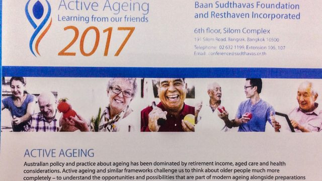 """""""Active Aging – Learning from Our Friends"""" Seminar in Bangkok on September 2017"""