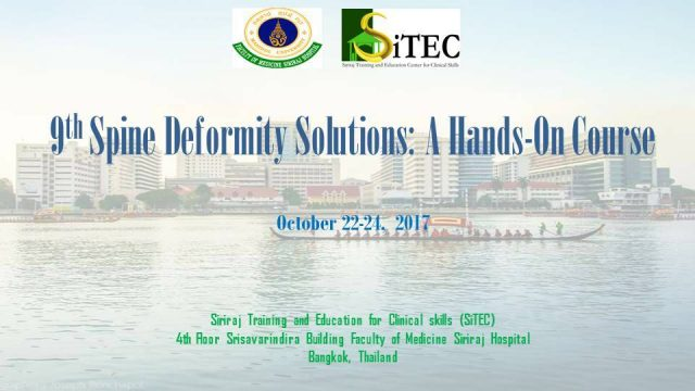 The 9th Spine Deformity Solutions: A Hands-On Course