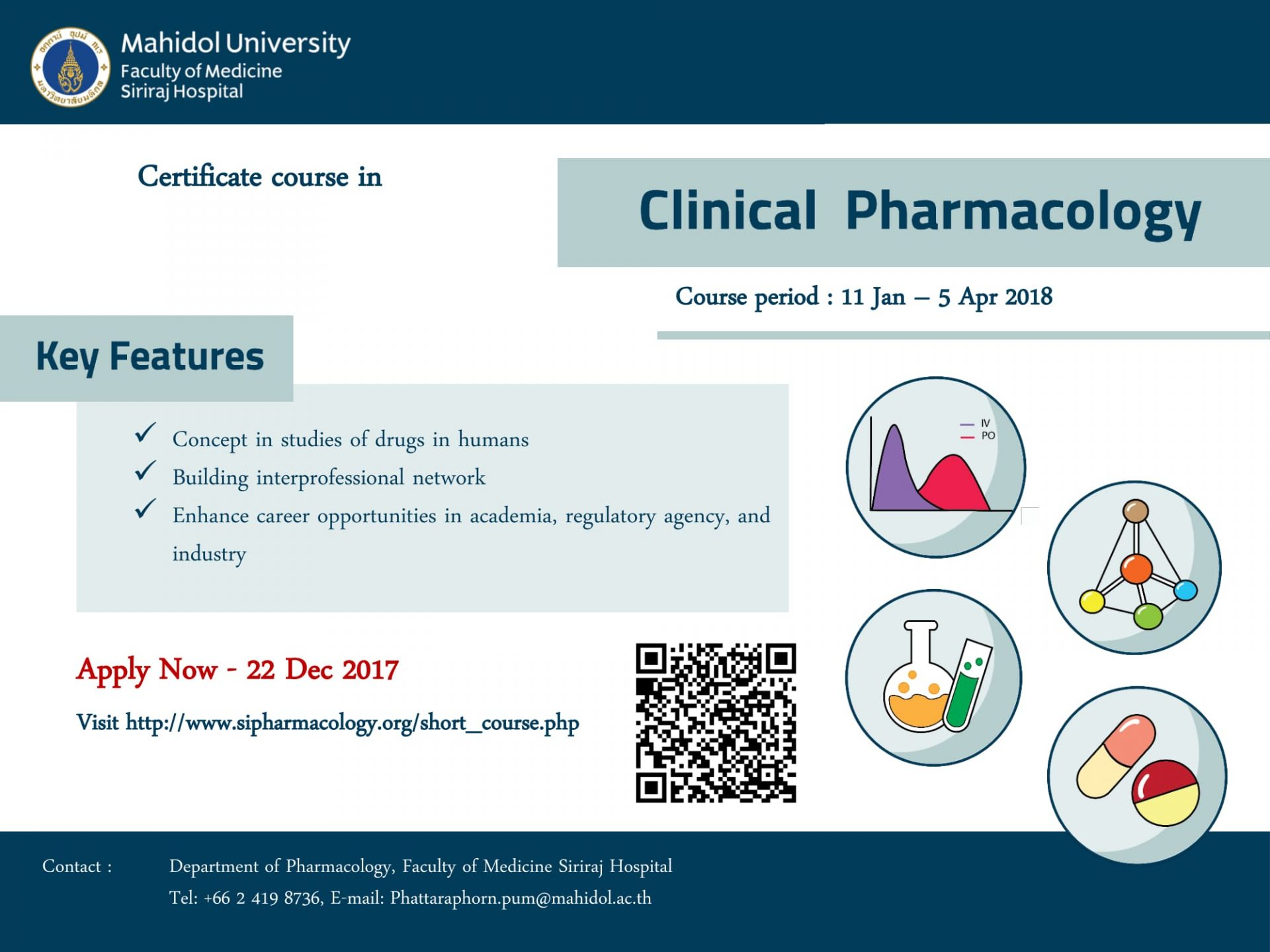 Certificate Course in Clinical Pharmacology (Apply now