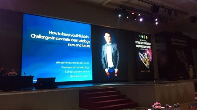 Professor Woraphong Lectured at Cosmic 2018: Symposia Cosmetic Dermatology Inquiring Conference, Bandung, Indonesia