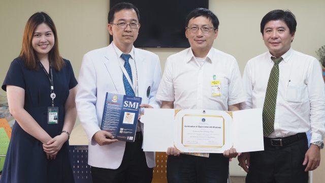 Prof. Wen Shiang Chen frm NTU Taiwan Served as Siriraj Visiting Scholar !
