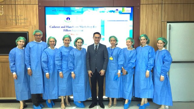 The Cadaver and Hands-On Workshop for Filler Injection at Siriraj