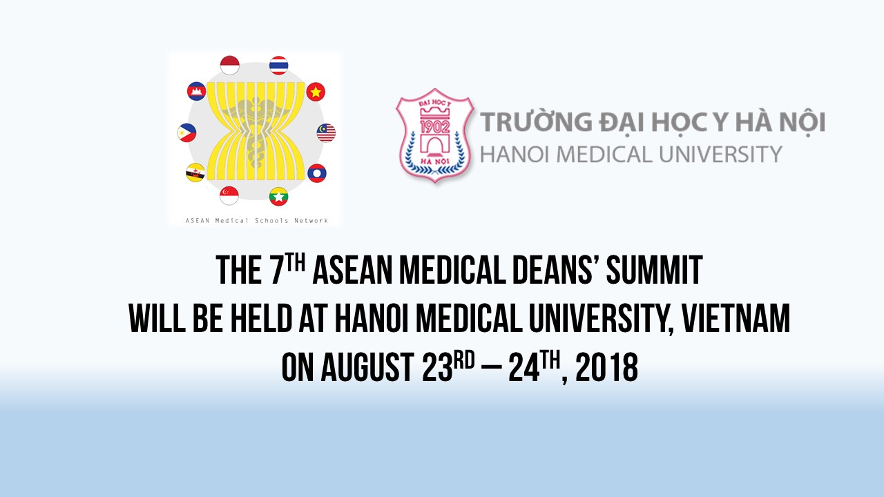 The 7th ASEAN Medical Deans' Summit in Hanoi: Schedule Available !