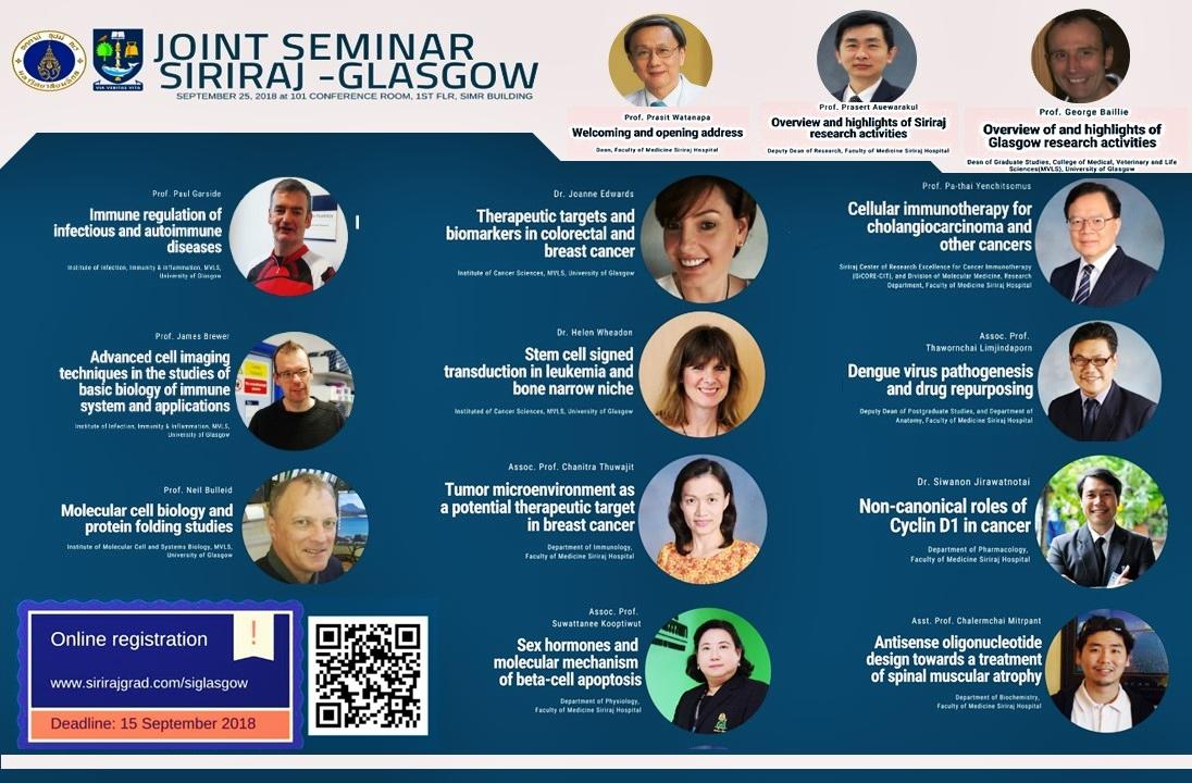 Joint Seminar Siriraj-Glasgow