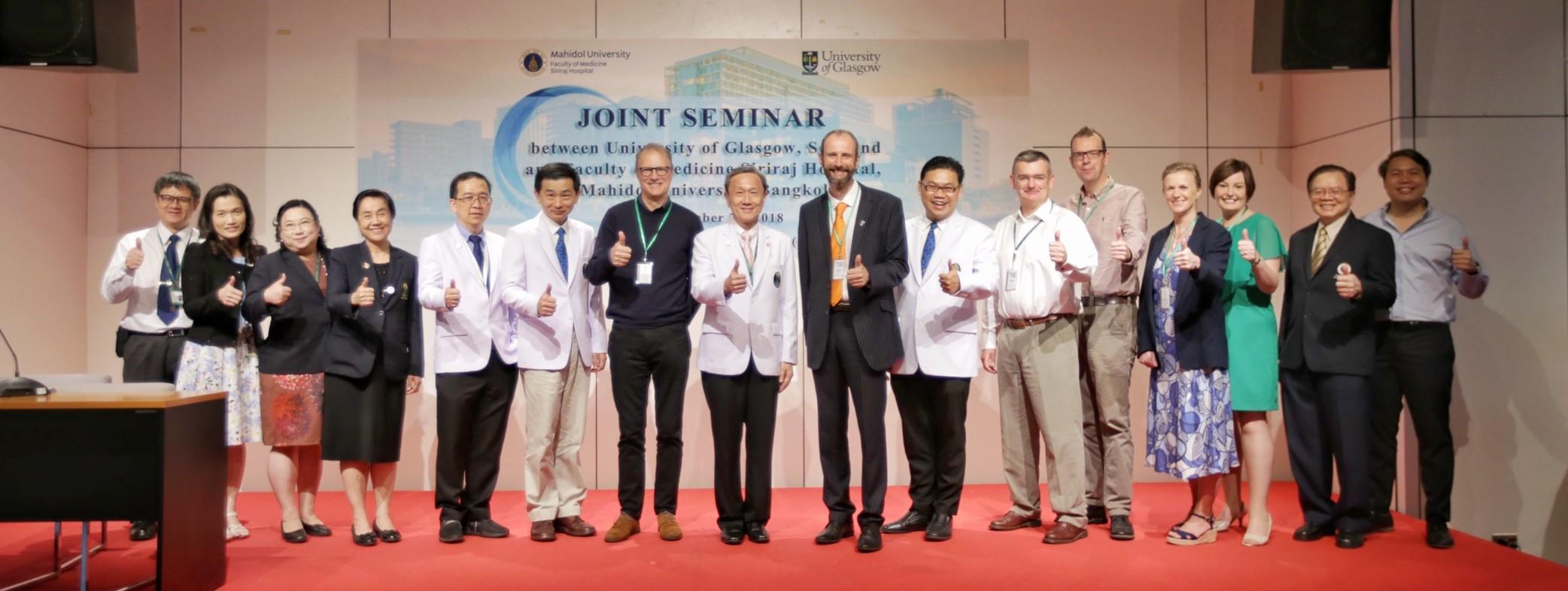 Joint Seminar between University of Glasgow and Siriraj