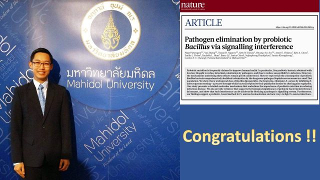 President of Siriraj Graduate Student Association's Research Published in the Nature