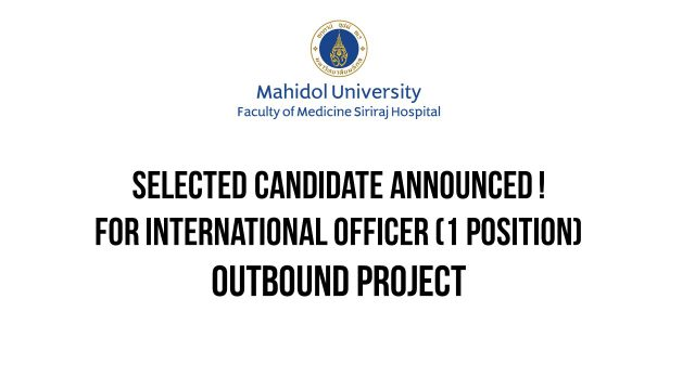 Selected Candidate for International Relations Officer has Announced !