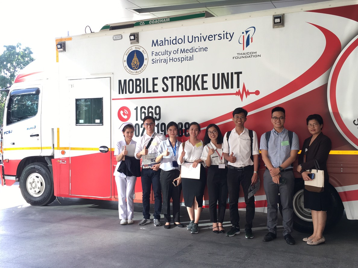Students from Vietnam National University, Ho Chi Minh City Elective at Siriraj Stroke Unit
