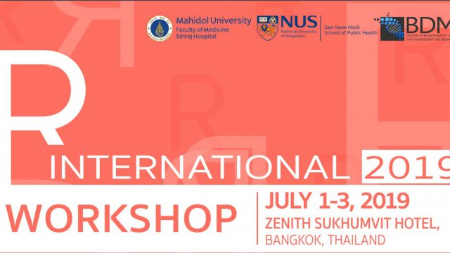 """International Workshop """"Advanced R Programing Language for Data analysis and Statistical Application (R2019)"""""""