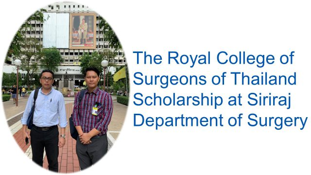 The Myanmar Recepients of Royal College of Surgeons of Thailand Scholarship