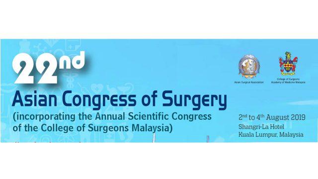 The 22nd Asian Congress of Surgery