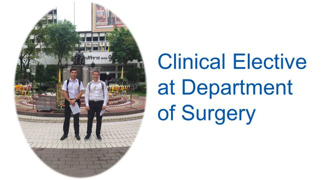 Elective Study at Department of Surgery