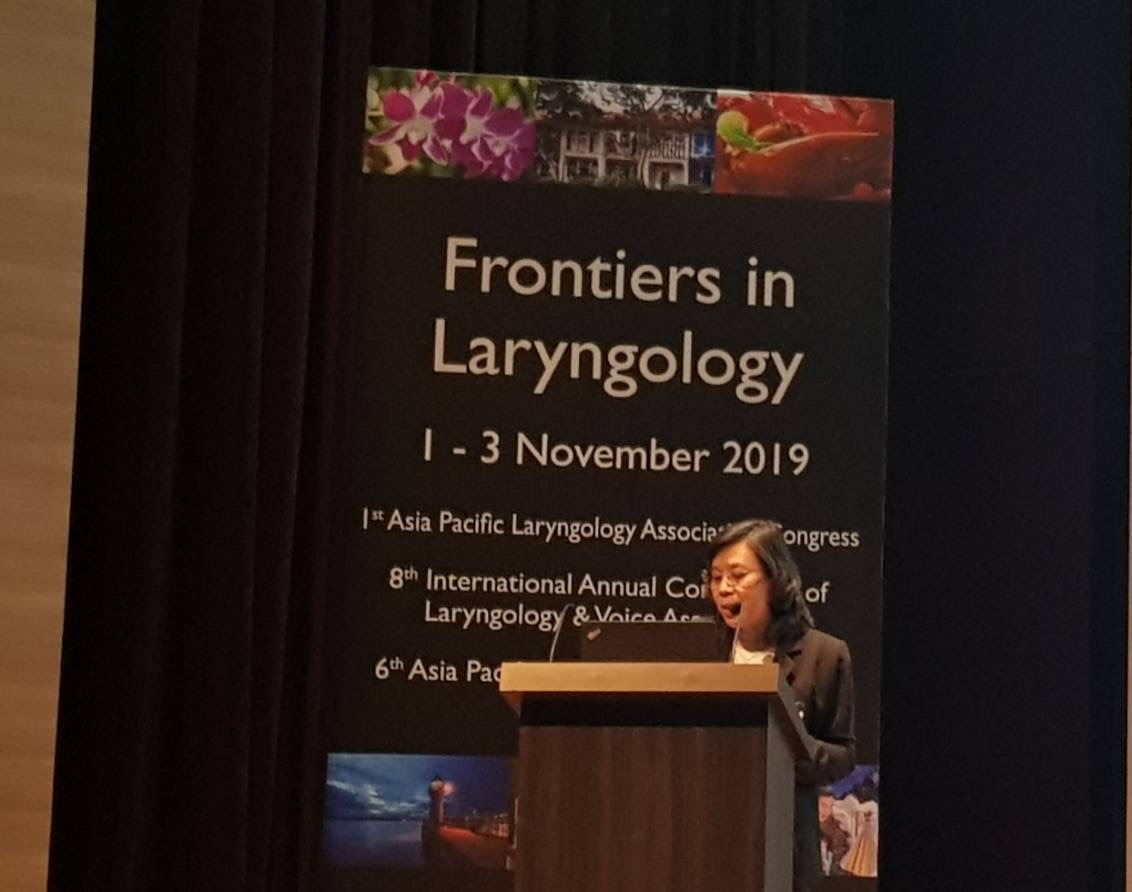 Siriraj Faculty Was an Invited Speaker at Inaugural Congress of Asia Pacific Laryngology Association in Singapore