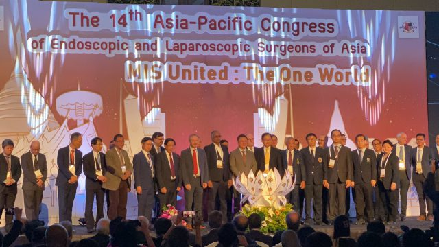 "Siriraj Faculties Attended ""14th Asia-Pacific Congress of Endoscopic and Laparoscopic Surgeon of Asia 2019"""