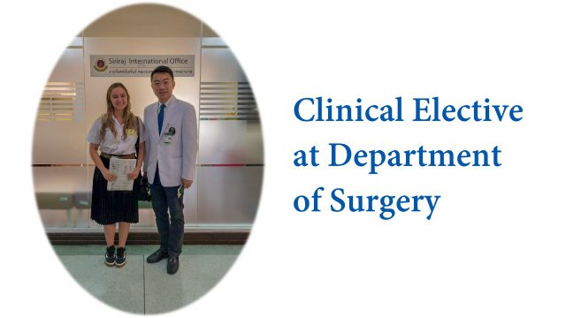 Clinical Elective at Department of Surgery