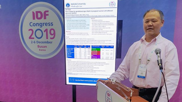 Siriraj Faculty Abroad at International Diabetes Federation Congress 2019