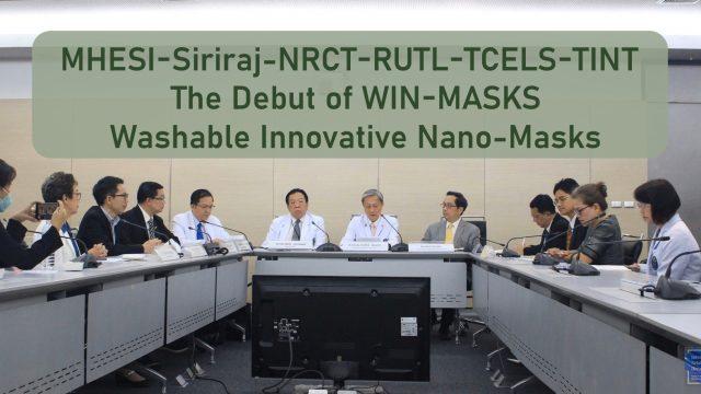 "The Press Conference ""WIN-Masks: Washable Innovative Nano-Masks"""