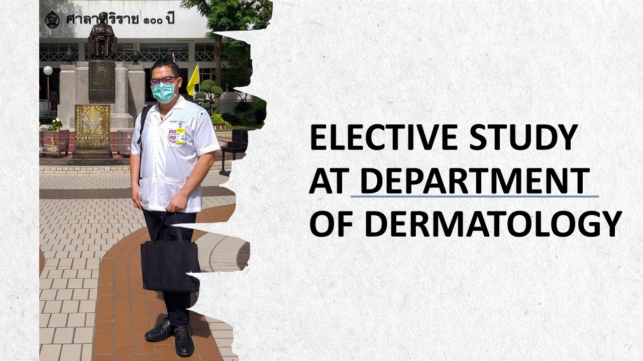 Elective Study at Department of Dermatology