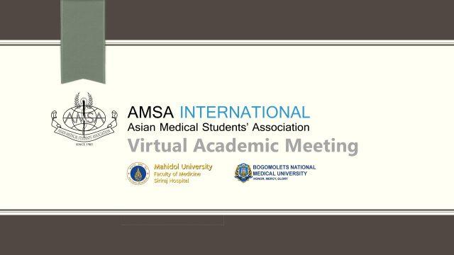 AMSA Virtual Academic Meeting Siriraj – BMU